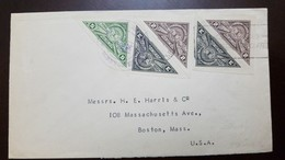 O) 1941 COSTA RICA, SEAL - PHILATELIC SOCIETY . IMPERFORATE, TRIANGLE, TO USA, XF - Costa Rica
