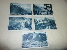 LOT DE 5 CARTES CHAMONIX MONT-BLANC...VUE GENERALE..BREVENT..MER DE GLACE ETC.... - Postcards