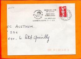 HAUTS DE SEINE, La Garenne Colombes, Flamme SCOTEM N° 11507a, Challenge Poulbot, 1-2 Juin 1991 - Postmark Collection (Covers)