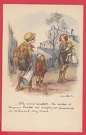 """ILLUSTRATEUR POULBOT - Lutte Contre Le TAUDIS -""""Vos Punaises Se Débinent Chez Nous"""" SUP* 2 SCANS Recto/Verso* - Poulbot, F."""