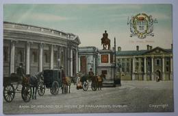 Dublin - Bank Of Ireland , Old House Of Parliament - Colorisée & Animée - City Arms / Blason - (n°9795) - Dublin