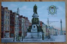 Dublin - O'Connell's Monument , Sackville Street - Colorisée - City Arms / Blason - (n°9795b) - Dublin
