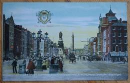Dublin - O'Connell's Street - Bridge Showing O'Connell's Monument  - Colorisée & Animée - City Arms / Blason - (n°9795c) - Dublin