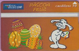 Télécarte Portugal  Holo °° 50 - Pascoa Feliz - Oeufs - RV 8838    ***   LUXE - Portugal