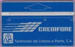 Télécarte Portugal  Holo °° 120 - Credifone Bleu - RV ° 7741    ***   LUXE - Portugal