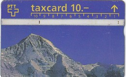11494-TAXCARD-PANORAMA EIGER-MONCH-JUNGFRAU-USATA - Suisse