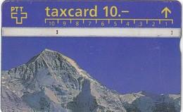11494-TAXCARD-PANORAMA EIGER-MONCH-JUNGFRAU-USATA - Svizzera