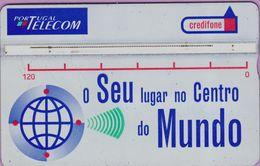 Télécarte Portugal  Holo °° 120 - O Seu Centro Mundo Argent - RV  2153    ***   LUXE - Portugal