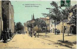 E5 13 MAILLANE Entrée Du Village Belle Animation A Circulé En 1910 - Francia