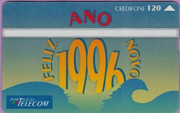 Télécarte Portugal  Holo °° 120 - Feliz Ano Novo 1996 - RV 8632    ***   LUXE - Portugal