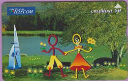 Télécarte Portugal  Holo °° 50 -  Silhouette Couple Lac - RV 6904  *  TBE - Portugal