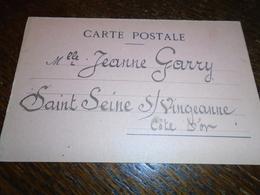 1914- Pour ( COTE D' OR   )- OBL/ CORRESPONDANCES AUX ARMEES  Pour St SEINE Sur VINGEANNE  -2 Photos - Storia Postale