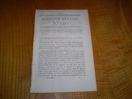 Napoleon à Schonbrunn 1809. 6 Lettres Patentes . Certifié Duc De Massa . Bulletin Des Lois - Décrets & Lois