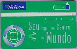 Télécarte Portugal  Holo °° 120 - O Seu Centro Mundo Vert - RV 8809  *  TBE - Portugal