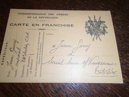 1915- Pour COTE D' OR -OBL/ CORRESPONDANCES AUX ARMEES - POUR St SEINE Sur VINGEANNE -2 Photos - Storia Postale