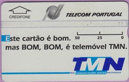 Télécarte Portugal  Holo °° 50 - TMN - Este Cartao é Bom - Gris Clair - RV 6736  *  TBE - Portugal