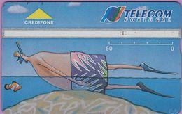 Télécarte Portugal  Holo °° 50 - Plongeur Coincé - Feria 94 - RV 0735  *  TBE - Portugal