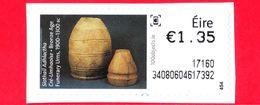 IRLANDA - EIRE - Usato - 2017 - Terracotta Antica - Urne Funerarie - Urns - 1.35 - Affrancature Meccaniche/Frama