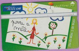 Télécarte Portugal  Holo °° 50 - Para Dia Da Mae - Dessin - RV 7716  *  TBE - Portugal