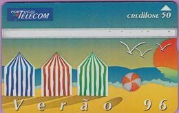 Télécarte Portugal  Holo °° 50 - Verao 96 - Cabines Plage  RV 6056 .. - Portugal