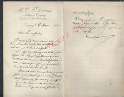 LETTRE DE M O DELORME NOTAIRE À TREIGNY 1896 : - Manoscritti