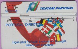 Télécarte Portugal  Holo °° 120 - Portugal Directo - RV 9420 .. - Portugal