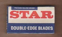 AC -  STAR DOUBLE EDGE BLADES 5 X SHAVING RAZOR BLADES IN BOX MADE IN BRITAIN - Razor Blades