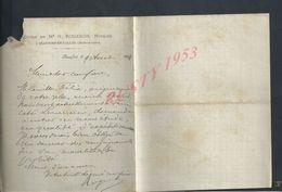 LETTRE DE ETUDE DE M G ROGERON À BEAUFORT EN VALLÉE 1894 : - Manoscritti