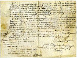 Manuscrit De 1783 Sur Parchemin (peau) Acte De Vente D'une Vigne à Fleury Sous Ouche Côte D'Or. Part Antoine Brulletet - Manuscripts
