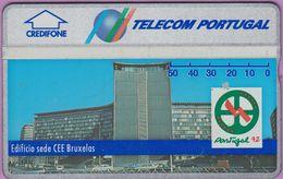 Télécarte Portugal  Holo °° 50 - Edificio Sede CEE - RV 4217 .. - Portugal