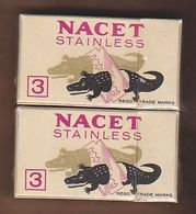 AC - NACET STAINLESS BLADES SHAVING RAZOR 3 BLADES IN UNOPENED BOX MADE IN ENGLAND - Razor Blades