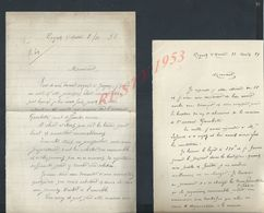 2 LETTRES DE NOGENT SUR MARNE 1894/98 : - Manoscritti