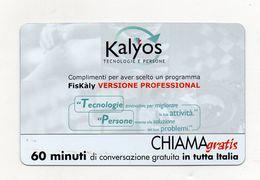 Telecom - Scheda Chiama Gratis - 2004 - KALYOS - 60 Minuti Di Conversazione Gratuita - NUOVA - (FDC7705) - Italy