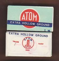 AC -  ATOM EXTRA HOLLOW GROUND SHAVING RAZOR BLADE IN WRAPPER - Razor Blades