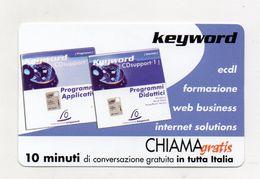 Telecom - Scheda Chiama Gratis - 2002 - KEYWORD - 10 Minuti Di Conversazione Gratuita - NUOVA - (FDC7706) - Italy
