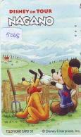 Télécarte Japon * 110-016 * DISNEY ON TOUR NAGANO (5068) MICKEY & Son Chien PUTO Japan Phonecard Telefonkarte - Disney