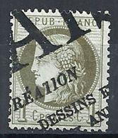FRANCE - N° 50 - 1 CENTIME VERT-OLIVE - ANNULATION TYPOGRAPHIQUE DES JOURNAUX - 1876-1898 Sage (Type II)