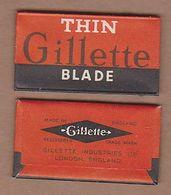 AC -  THIN GILLETTE BLADES SHAVING RAZOR IN WRAPPER MADE IN ENGLAND - Razor Blades