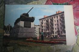 Ukraine. Zhytomir City. Tank T 34 Monument -  1967 - Guerra 1939-45