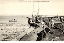 Guyane Cayenne  Les Quais Vue De L'appontement à Marée Basse TOP Carte - Cayenne