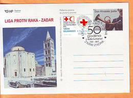 Croatia 2017 Y Postcard Overprint Red Cross League Against Cancer Postmark Zadar 11.12. - Kroatien