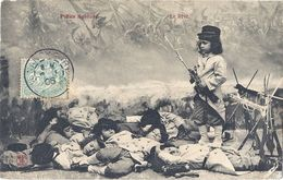 CPA - Lot De 3 Cartes - Petits Soldats - En Marche , Le Rêve , Aux Manoeuvres - Kinder