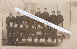- 03 - LE BRETHON - Carte-photo Groupe Scolaire En 1911 - 001 - Autres Communes