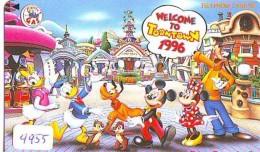 Télécarte Japon DISNEY * 110-175385 * Série TOONTOWN (4955) Japan Phonecard Telefonkarte * Amusement Park ATT - Disney