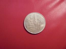 """Baudouin 1er. 50 Francs """"EXPO 1958"""" VL. ARGENT. - 1951-1993: Baudouin I"""