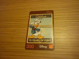 Donald Duck Disney Thailand Prepaid Phonecard - Disney