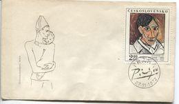 CSSR # 2109 FDC. Pablo Picasso Selbstportrait. Nationalgalerie. Ersttagssonderstempel - FDC