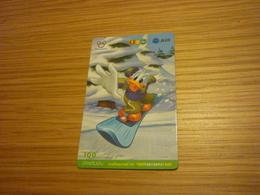 Donald Duck Snowboard Disney Thailand Prepaid Phonecard - Disney