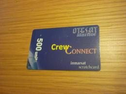 Greece OTESAT Maritel Crew Connect Satellite Prepaid Phonecard (500 Units, Exp Date: 1/12/2004) - Greece