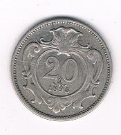 20 HELLER 1895 OOSTENRIJK /116G/ - Austria
